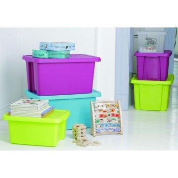 Úložný box s víkem  45L - fialový CURVER