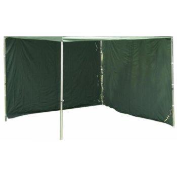 Sada 2 bočních stěn pro PROFI zahradní stany 3 x 3 m - zelená