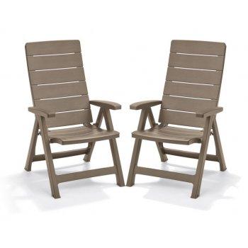 Zahradní souprava židle Brasilia - cappuchino 2 ks R41399