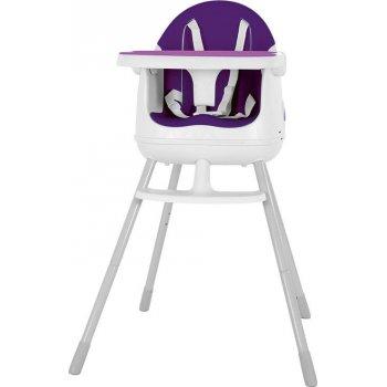 Dětská stolička MULTI DINE - fialová/růžová R41308