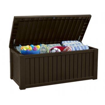 Zahradní úložný box ROCKWOOD - 570 L hnědý