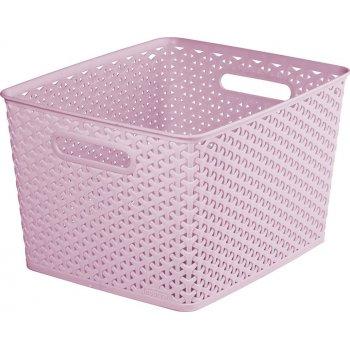 KOŠ PLASTOVÝ box - L - růžový CURVER R41155