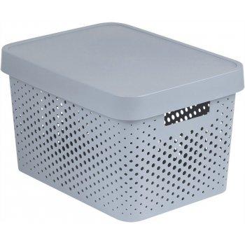 Úložný box s víkem plastový 17L - bílý CURVER R41169