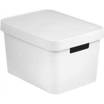 Úložný box plastový s víkem 17L - bílý CURVER R41165