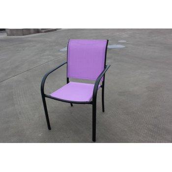 Zahradní kovové křeslo fialové R41365