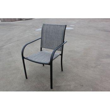 Zahradní kovové křeslo šedé R41363