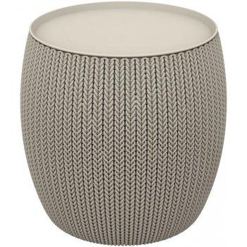 Moderní plastový stolek URBAN 41 x 41 x 41 cm - pískový CURVER R41487