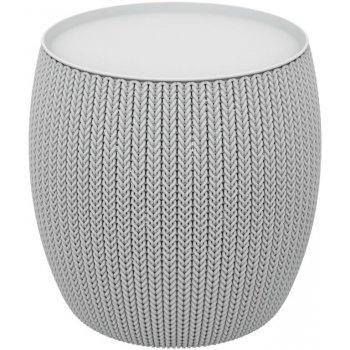 Moderní plastový stolek URBAN 41 x 41 x 41 cm - šedý CURVER R41486