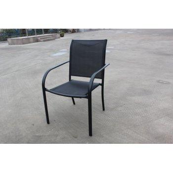 Zahradní kovové křeslo černé R41362