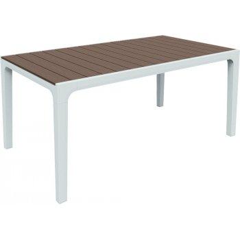 Zahradní plastový stůl HARMONY bílá + cappuchino
