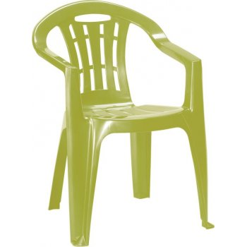 Zahradní plastové křeslo MALLORCA - světle zelené R41396