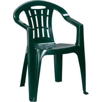 Zahradní plastové křeslo MALLORCA - tmavě zelené R41395