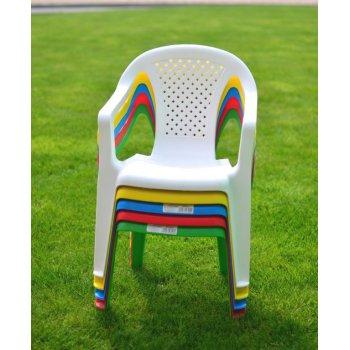 Dětské křeslo plastové CAMELIE - bílá R41221