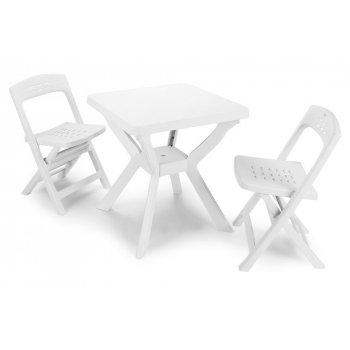Zahradní set BISTRO - bílý R41224