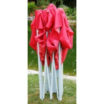 Zahradní párty stan CLASSIC nůžkový + boční stěny II. - 3 x 4,5 m červený
