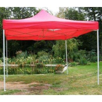 Zahradní párty stan CLASSIC nůžkový - 3 x 3 m červený JL40973