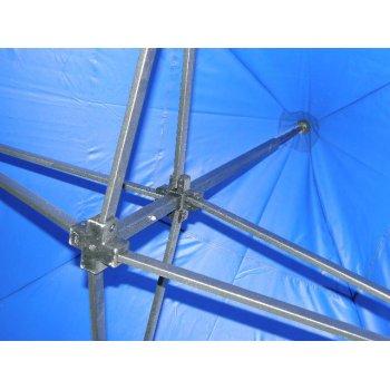 Zahradní párty stan DELUXE nůžkový + boční stěny - 3 x 3 m modrá