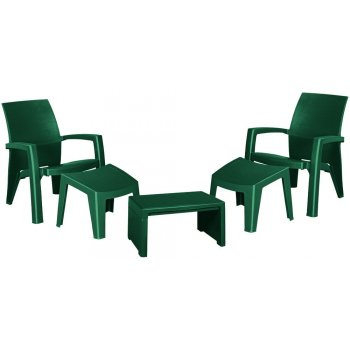 Zahradní plastový set LAGO MAXI - zelený R41476