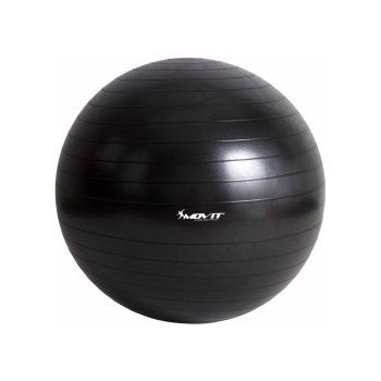 Gymnastický míč MOVIT - černý - 65cm M06329