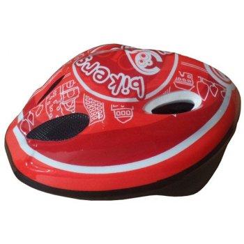 Cyklistická dětská helma červená/bílá  velikost M(52-56 cm) 2014
