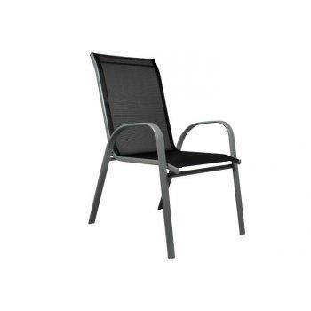 Zahradní židle stohovatelná s vysokým opěradlem