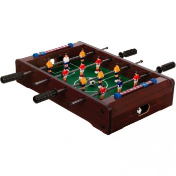 Mini stolní fotbal fotbálek 51 x 31 x 8 cm - tmavý