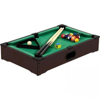 Mini kulečník pool s příslušenstvím 51 x 31 x 10 cm - tmavý M40541