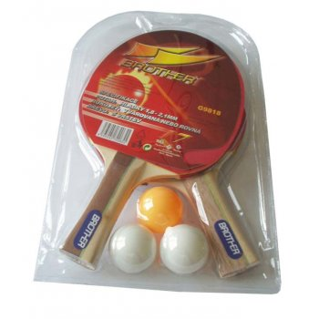 Sada 2 PP pálky+ míček BROTHER 2-star AC05024