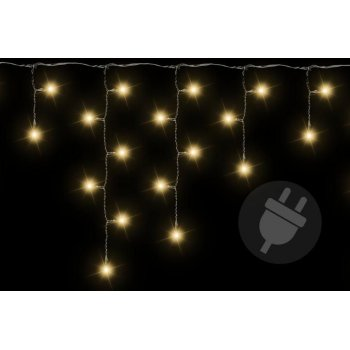 Vánoční světelný déšť 600 LED teple bílá - 11,9 m