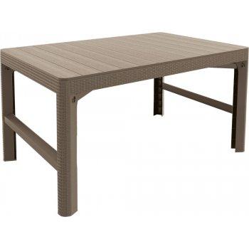 Zahradní plastový stůl LYON 116 x 72 cm - cappuchino R41491