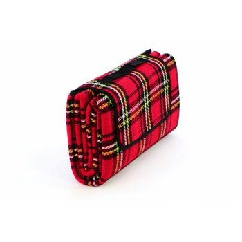 Pikniková deka - červená kostka 150 x 130 cm D40609