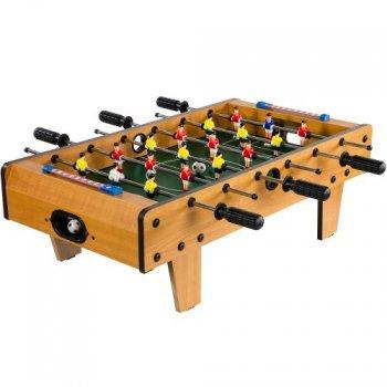 Mini stolní fotbal fotbálek s nožičkami 70 x 37 x 25 cm - světlý M11773