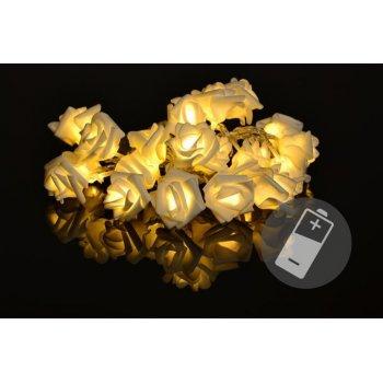 Dekorační LED osvětlení - růže, 20 LED, teple bílé