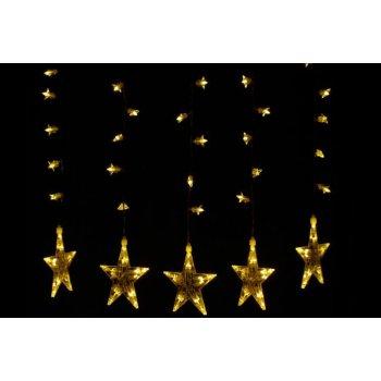 Vánoční dekorace - Svítící hvězdy - sada, 100 LED diod D28705