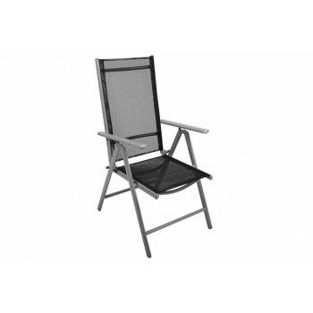Skládací zahradní židle GARTHEN - černá D01486