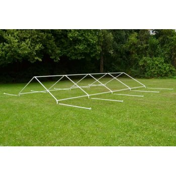 Zahradní párty stan - bílý, 4 x 8 m