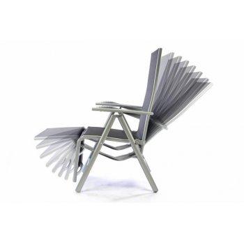 Hliníkové skládací křeslo - relaxační lehátko