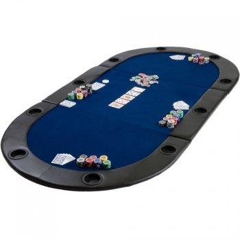 Poker podložka skládací modrá M09495