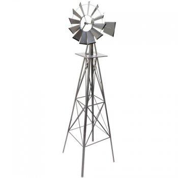 Větrný mlýn stříbřitě šedá - 245 cm M02660