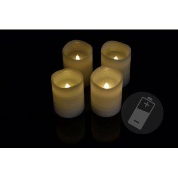 Dekorativní LED sada - 4 adventní svíčky - bílá D33487