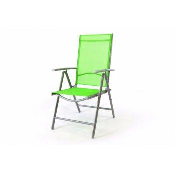 Hliníková skládací židle Gardenay - zelená D01505