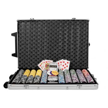 Poker set 1000 ks žetonů OCEAN Trolley D00495