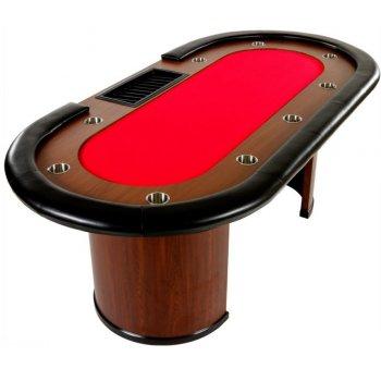 XXL pokerový stůl Royal Flush, 213 x 106 x 75cm, červená M32444