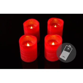 Dekorativní LED sada - 4 adventní svíčky - červená D33519
