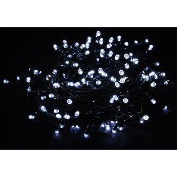 Vánoční LED osvětlení 10m - studené bílé, 100 diod D00837
