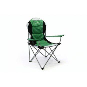Skládací kempingová rybářská židle Divero Deluxe - zeleno/černá D35116