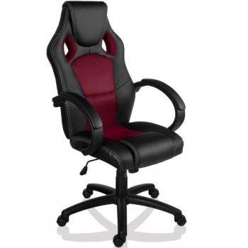 Otočná kancelářská židle GS Series VÍNOVÁ červená
