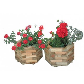 Zahradní dekorativní 6-ti úhelný květináč velký R02699