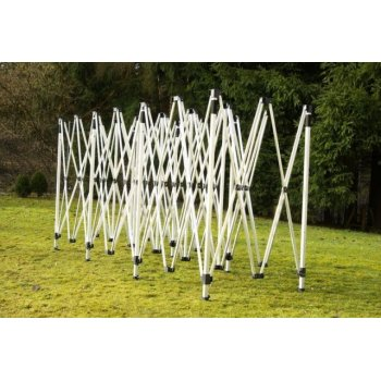 Zahradní skládací stan - bílý, 3 x 9 m