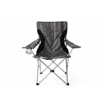 Kempingová rybářská skládací židle - šedá